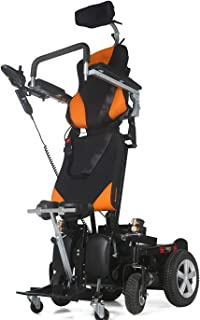 WISGING Electric Wheelchair Standing Power Wheelchair (25 Miles Range) Fully Reclining Electric Mobility Stand-up Motorized Wheel Chair Fully Powered Standing (18 inch Seat)