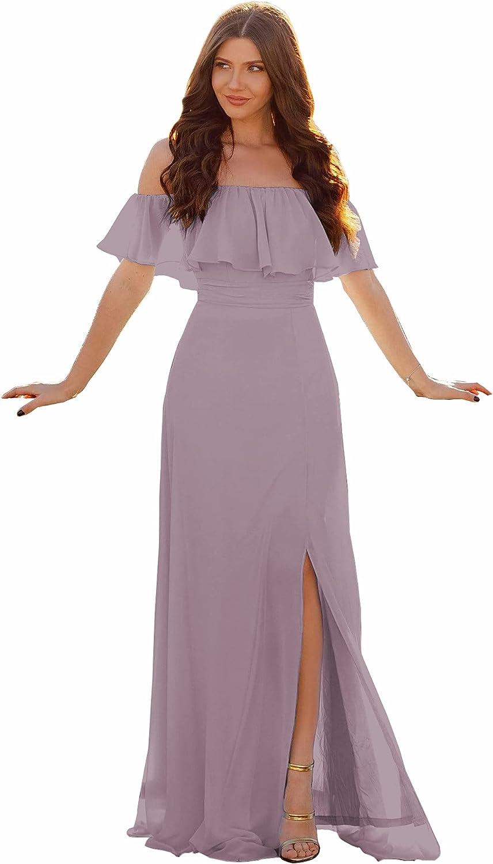 Vnaix Max 45% OFF Women's sold out A-line Chiffon Strapless Dress Long Ruf Bridesmaid