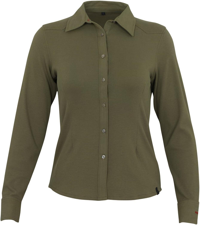 Mascot 50367863119M Mykonos  Ladies Shirt, Medium, Bright Olive