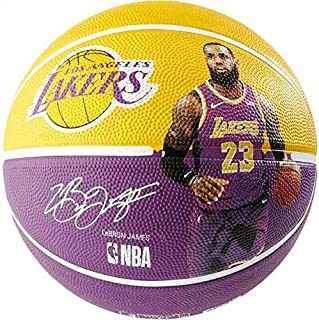 "Spalding NBA Lebron LA Lakers 29.5"" Outdoor Rubber Basketball"