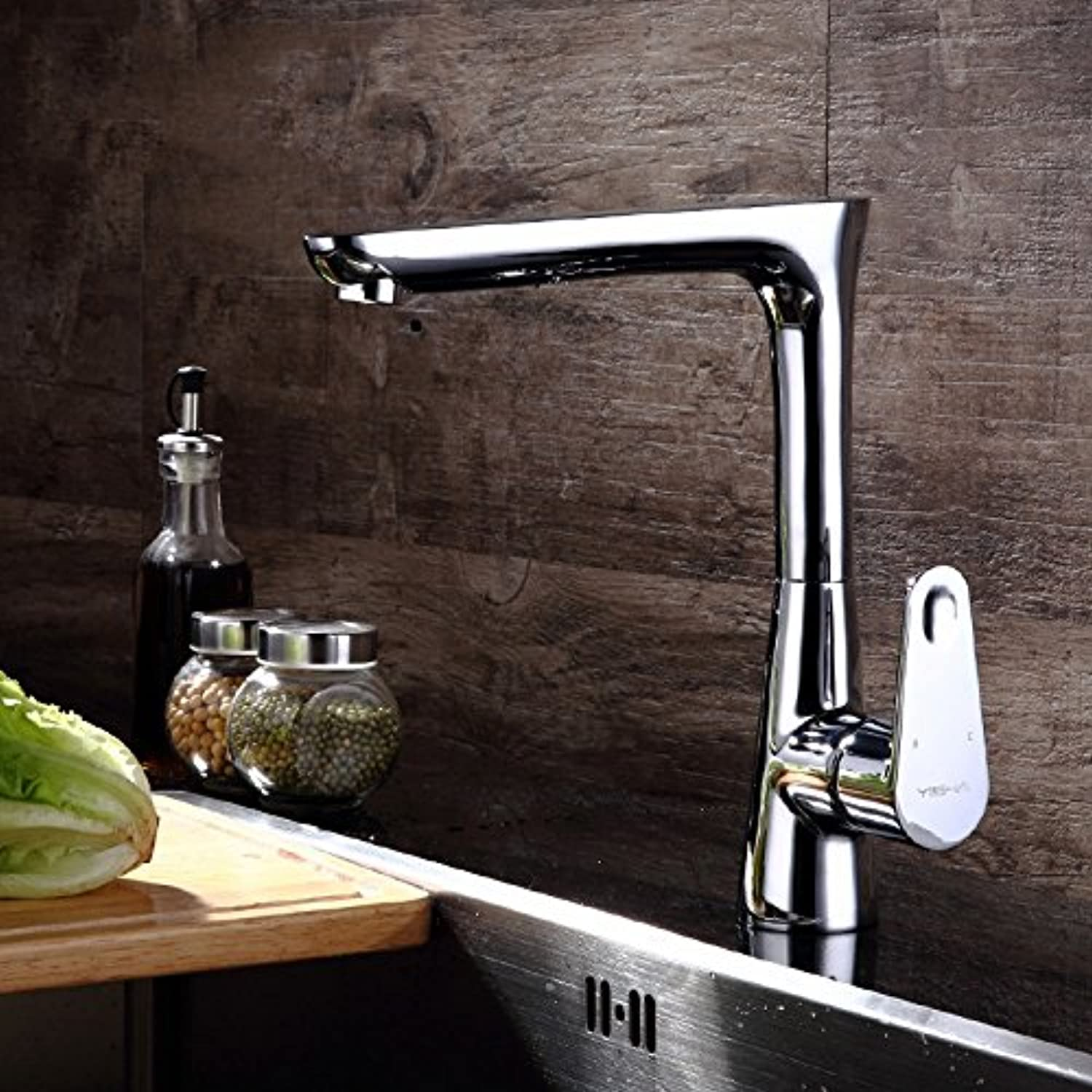 GFEI All copper wash basin, hot and cold faucet   faucet, kitchen sink, swivel single hole faucet