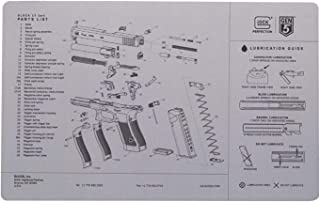 Glock Perfection OEM Gen 5 Exploded Diagram Bench Mat Gray AS10064