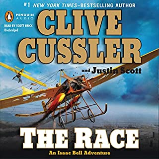 The Race     An Isaac Bell Adventure, Book 4              By:                                                                                                                                 Clive Cussler,                                                                                        Justin Scott                               Narrated by:                                                                                                                                 Scott Brick                      Length: 10 hrs and 57 mins     2,094 ratings     Overall 4.4
