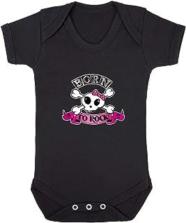 Badass Babies Baby-Strampler, Born to Rock, Totenkopf