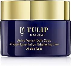 Skin Brightening & Lightening Cream – Hyperpigmentation & Dark Spots Corrector, for All Skin Types – Vitamin A Retinol Fade Cream for Skin Discoloration, Acne Scars, Sun Spots by Tulip Natural, 1.7oz