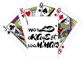 World's Okayest Roommate Graduation season Poker Playing Magic Card Fun Board Game