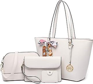 YeumouG Handtasche Damen Schwarz Shopper Groß Schultertasche Umhängetasche Leder Damen Geldbörse Tragetasche Damen Tasche ...