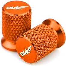 LIWIN Motorbike Accessories Duke Motorcycle CNC Aluminum Tyre Rim Air Port Cover Tire Valve Wheel Stem Cap Dustproof Cover for KTM Duke 125 200 250 390 690 (Color : Orange)