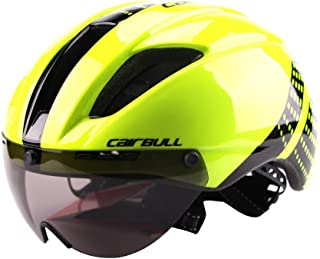 FidgetGearBike Helmet Lightweight Unisex Cycling Helmet with Detachable Magnetic Goggles Aerodynamic Helmet for Motorcycle Bike Riding