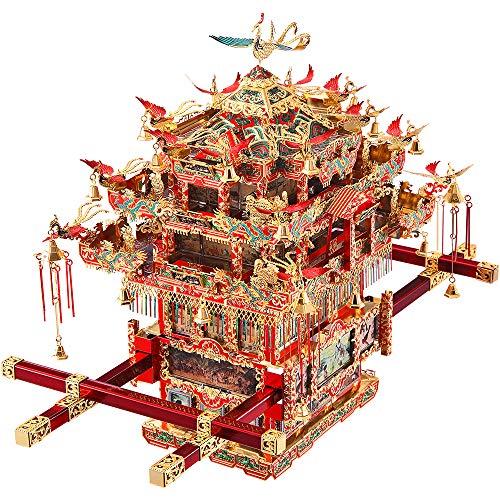 piececool Metal 3D Puzzle -Bridal Sedan Chair- Metall Modellbausatz - Chinesisches Traditionelles Kulturhandwerk Metal Modell Metallmodell-Puzzles für Erwachsene