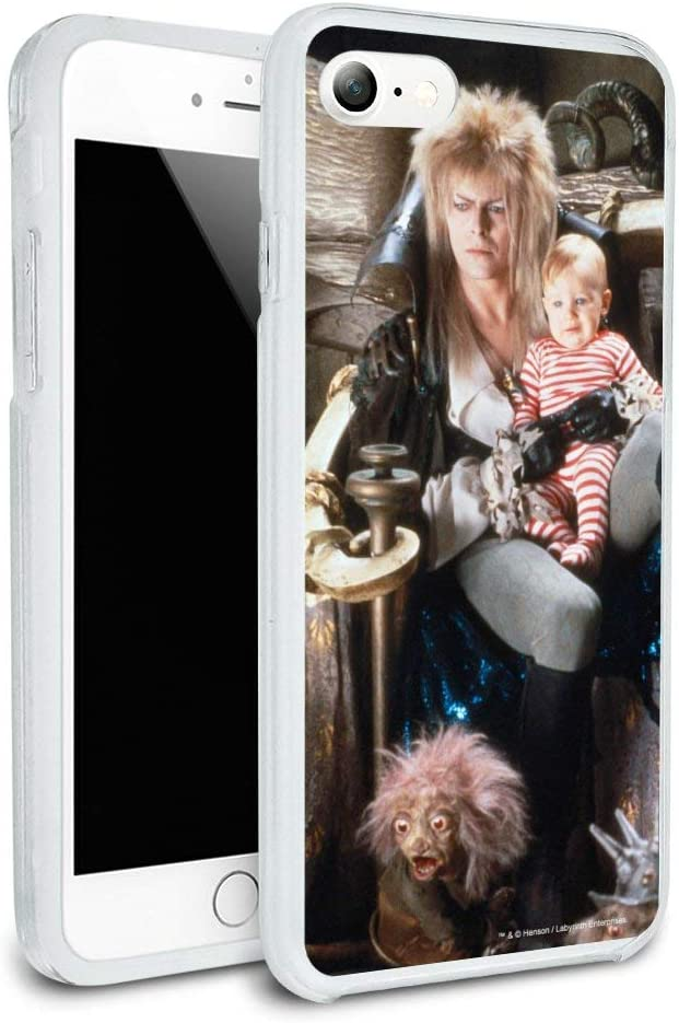Labyrinth Goblin King On Throne with Baby David Bowie Jareth Toby Protective Slim Fit Hybrid Rubber Bumper Case Fits Apple iPhone 8, 8 Plus, X, 11, 11 Pro,11 Pro Max