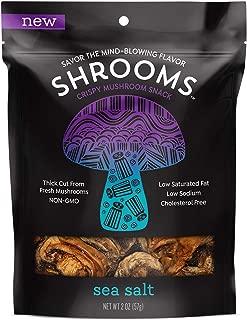 Shrooms Vegan Mushroom Crisps | Superfood Snack Made with Fresh Mushrooms | Non-GMO, Dairy, Gluten, Soy, and Trans Fat Free | Sea Salt