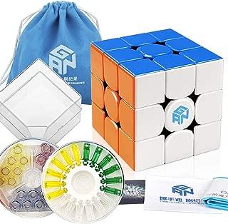 D-FantiX Gan 356 X 3x3 Speed Cube Stickerless Gan 356X 3x3x3 Puzzle Cube (Numerical IPG Version)