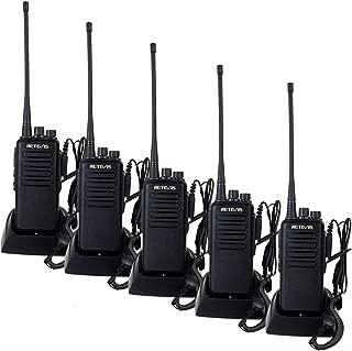 Retevis RT1 2 Way Radios Long Range 3000mAh UHF Radios VOX Professional Encryption High Power Walkie Talkies with Earpiece(5 Pack)
