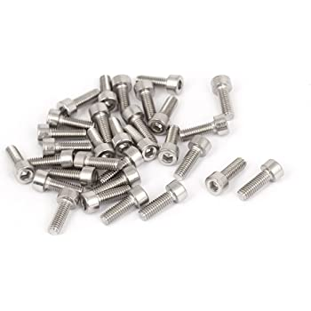 M4x12mm Stainless Steel Hex Socket Head Cap Screws Bolts DIN 912 30pcs uxcell a15083100ux0018