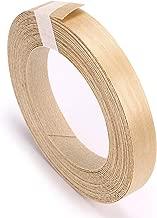 Skelang Birch Wood Veneer Edgebanding Preglued Iron-On with Hot Melt Adhesive Flexbile Edgeband Wood Tape for Desk (13/16