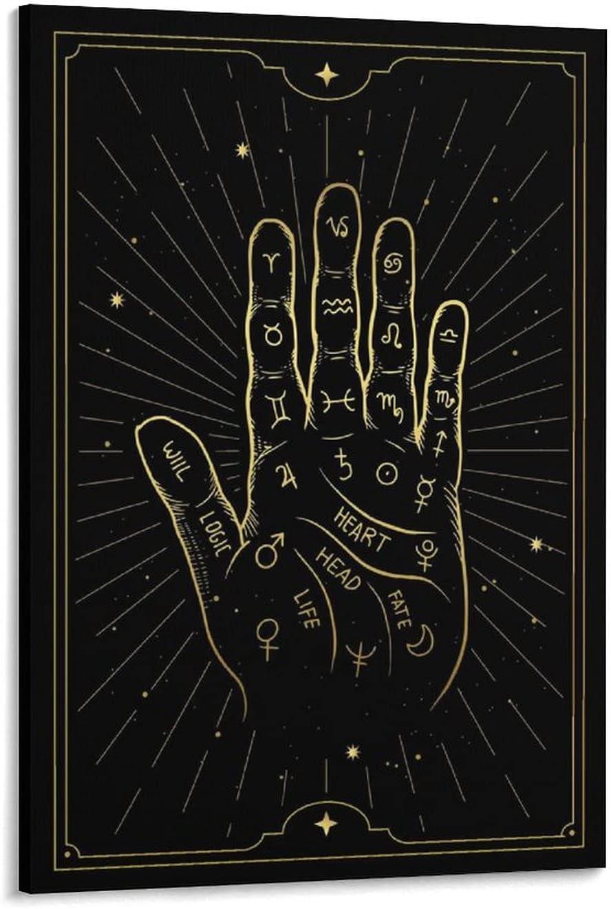 ABEPC Palmistry Diagram Tarot Super intense SALE Card Posters Ya02 Manufacturer OFFicial shop Decorativ Poster