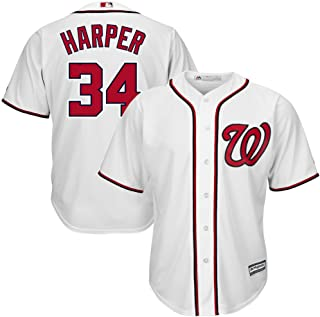 Bryce Harper Washington Nationals White MLB Youth Cool Base Home Replica Jersey