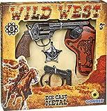 GONHER-set cowboy pistola esposas, color plata, sin talla (37-157)