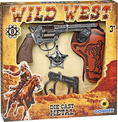 Gonher - Set da Cowboy del Selvaggio West, Revolver a 8 Colpi (157/0)