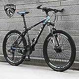 Bicicleta de montaña junior negra y roja 26 pulgadas rueda 21 velocidades marco de acero frenos de disco niños y niñas