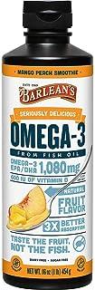 Barlean's Omega Swirl Flax Oil Vegan Omega-3 Formula Mango Fusion Flavor 16 oz by Barlean's, Barleans