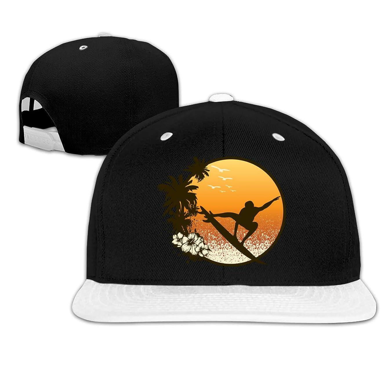 Lichang Hawaii Surfer Man Hip Hop Snapback Baseball Hat Adjustable Mens White