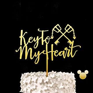 Key To My Heart Wedding Cake Topper - Kingdom Hearts, Keyblade, Key Blade Keepsake Wedding Cake Toppers