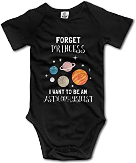 Lovevol Forget Princess I Want to Be an Astrophysicist Baby Onesies Black 6M Cute and Interesting