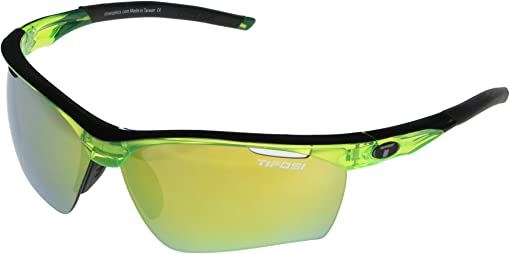 Crystal Neon Green Frame Clarion Yellow/AC Red/Clear Lenses