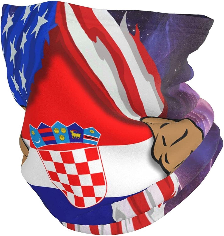 Blood Inside Me Croatia Face Mask Unisex Neck Warm Scarf Bandana Balaclava for Outdoor Black