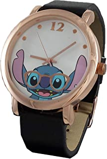 Lilo and Stitch Women's Simulated Leather Rosegold Watch
