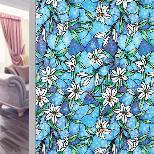 LMKJ Pegatina de Vidrio de Vinilo para Ventanas decoración estática autoadhesiva Pegatina de Ventana de Vidrio Anti-Ultravioleta película Decorativa A36 60x200cm