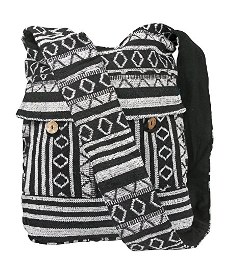 USPTO REGISTERED TRADEMARKED BRAND. Authentic Tribe Azure Fair Trade Product Handmade Beautiful chic boho bag is made using thick woven cotton Jacquard fabric, quilted free motion style in high-contrast. Deep bag design holds all of your essentials, ...
