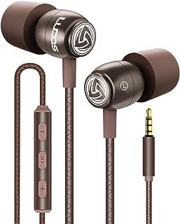 LUDOS Clamor Auriculares con Cable, Cascos Espuma de Memoria, Cable Reforzado, Graves, Earphones para Mi, Xiaomi, iPhone, ...