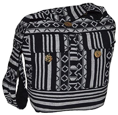 Schultertasche Umhängetasche Beuteltasche Freizeittasche Ethno Boho Hippie Goa Indische Tasche (B09.05)