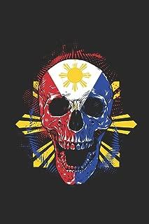 Filipino Skull: Small Lined Notebook – Gift Idea For Philippines Filipino Pinoy