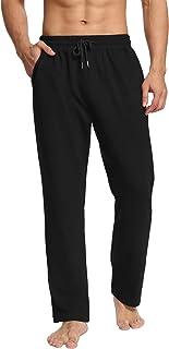 DIBAOLONG Mens Yoga Sweatpants Open Bottom Workout Joggers Pants Loose Drawstring Lounge Pajama Pants with Pockets