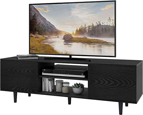 WLIVE Mid Century Modern TV Stand For 55 TV In Living Room Entertainment Center