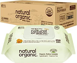 Lovesprings Natural Organic Original Plain Wet Wipes CAP - Case, 100 count (Pack of 10)