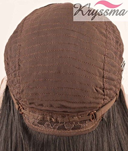 K'ryssma Ombre Wine Red Lace Front Wigs Synthetic, Burgundy 2 Tones Dark Roots Long Wavy Glueless Lace Wig Replacement Full Wig For Women Heat Resistant 24 Inch For Christmas