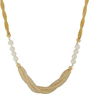 a03d401bc1b Maayra American Diamond Neckpiece White Pearl Shape Party Neckpiece