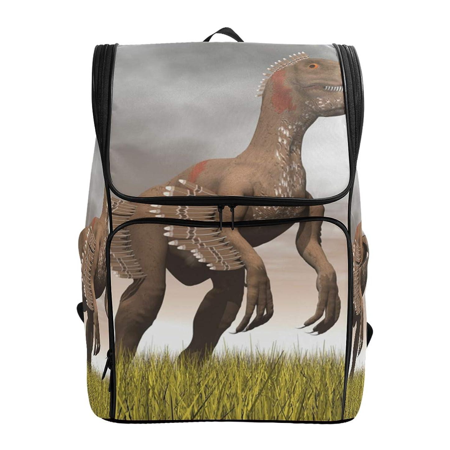 配分あいまいさ想起リュックレディース メンズ 黒 Velociraptor Dinosaur 通勤 outdoor 軽量?大容量?防水加工 修学旅行 登山 ビジネス 薄型リュック pc リュック カジュアル 男女兼用