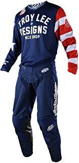 Troy Lee Designs TLD 2018 GP Air Americana Mono Gear Set Navy White Red Jersey and Pants Combo (Large Jersey / 34 Pants)