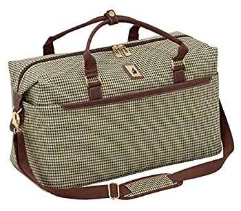 LONDON FOG Cambridge II 20-Inch Duffel Bag Olive Houndstooth