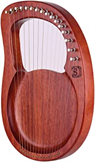 Muslady Walter.t 16-String Wooden Lyre Harp Metal Strings Mahogany Solid Wood String Instrument with Carry Bag Tuning Wren...