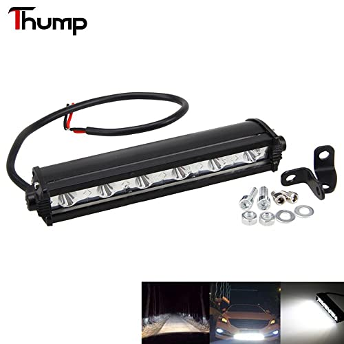 Thump 7 Inch 6 LED Fog Light Bar Universal Driving Flood Lamp Waterproof Pod Light for Motorcycle Bike SUV ATV 4WD Car Truck (18W, Pack Of 1)