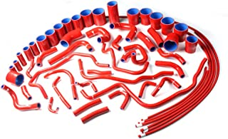 Silicone Radiator And Turbo Tube Coolant Kit Clamps For Nissan 1990-1999 91 92 93 94 95 96 97 98 300ZX VG30DETT Z32 Red