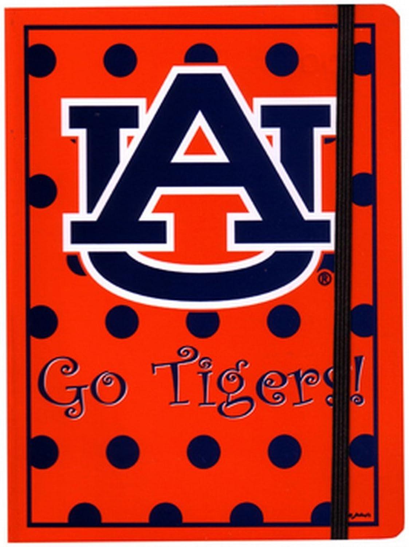 NCAA Auburn Tigers Polka Dot Design Stationary Journal