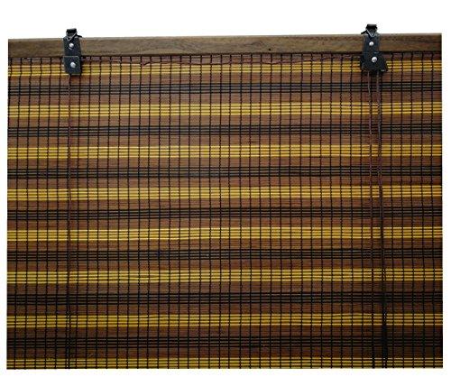 Solagua 6 Modelos 14 Medidas de estores de bambú Cortina de Madera persiana Enrollable (135 x 135 cm, Tricolor)